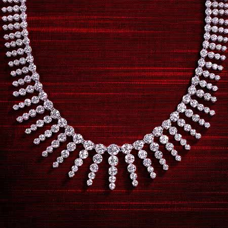 diamond necklace photography by bret wills
