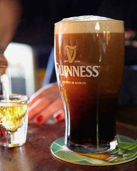 guinness beer and beverage photography