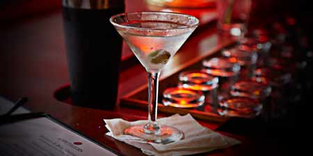martini beverage photography